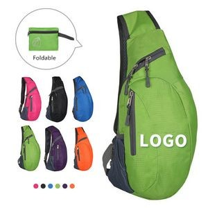 Foldable Sling Bags Shoulder Chest Backpack Crossbody Daypack for Cycling Walking Hiking