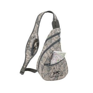 Digital Camo Crossbody Sling Backpack